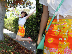 Jamie Shields - Bait Shoes, Handmade Skirt, American Apparel Crop Top - Skirts of Summer