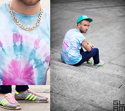 Luke Witek - Topman 80s T Shirt, Adidas Shoes, Cheap Monday Jeans, Holister Snapback - Moment 4 life.