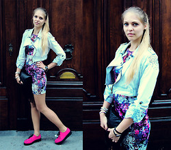 Nadja B - H&M Dress, Regalrose Earrings, Primark Bracelets, Gina Tricot Clutch - Color splash