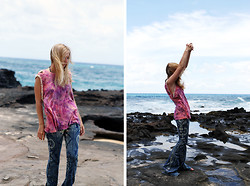 Erica Davidge - Spell & The Gypsy Collective Hanalei Cowrie Shell Tee, Free People Discharge Bali Flare - I must be a Mermaid.