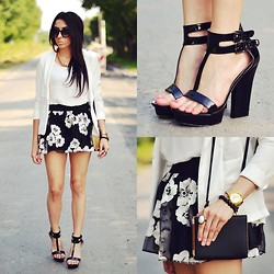 Pam S - Chicnova Skirt - Black&white outfit