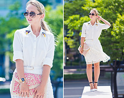 Olga Choi - Udobuy Skirt, Sammydress Clutch, Céline Glasses - Love the way you lie