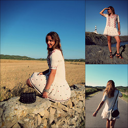 Sofia Vagueiro - Mango Bohemian Dress, Asos Studs Bag, Mango Heels - Already one year!