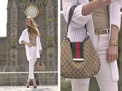 Lara Rose Roskam - Gucci Designer Bag, Vanilia White Cardigan - CITY CHURCH