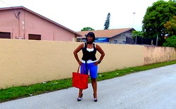 Simply Sassy's Style - A Stalker of Fashion - Lover of Cars - Red Tote - RAIN RAIN GO A FREAKIN WAY!!!!