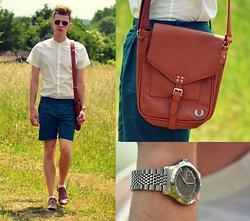 Rob Evans - Fred Perry Bag, Gucci Watch, H&M Shirt, H&M Shorts, Bronx Brogues - Figure 8