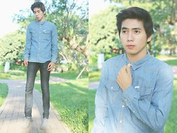 Fahmi Ramadhan - Wrangler Denim Shirt, Wrangler Jeans - DOUBLE DENIM