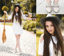 Mirella Szymoniak - Motel Rocks Dress, Spell Designs Bag, Sheinside Necklace - Boho chic