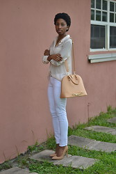 Sheyla Gomes - Justfab Gramercy, Old Navy White Jeans - CREAM