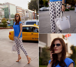 Viktoriya Sener - Sheinside Pants, Zara Top, Zara Bag, Ray Ban Sunglasses, Zara Pumps - Summer in the city
