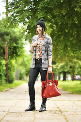 Shiny Syl - Michael Kors Bag, Zara Shoes, New Look Jacket - Aztec prints and michael kors hamilton