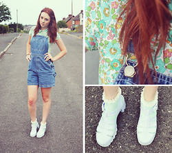 Trixie Belle (instagram = TRIXANDTHECITY) - Lacoste Polo Shirt, Gap Dungarees, Topshop Frilly Socks, Juju Jellies - The Road Home