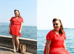Elena Pititto - Forever 21 Dress, Pesopiuma Bijoux Earrings, Cinti Shoes - Sunday afternoon in Gardone Riviera