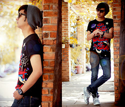Poldo Napitupulu - Topman Beanie, Adidas Shoes - HOLYDAY IN MARS AGAIN
