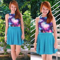 Shaira Izella Tan Loque - Nava Galaxy Top, Skater Skirt, Arm Candies - Here's to never growing up