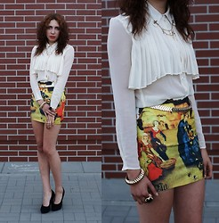 Joanna SERWUS - Skirt, Shirt - Print look