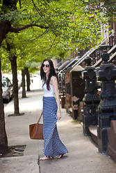 Patrycja P - Michael Kors Bag, Bcbg Maxi Skirt - Seeing Stripes