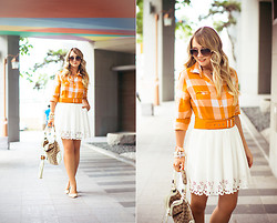 Olga Choi - Chic Wish Skirt, Chic Wish Flats, Gucci Bag, Céline Glasses, Oasap Belt - Keep in mind: we're under the same sky