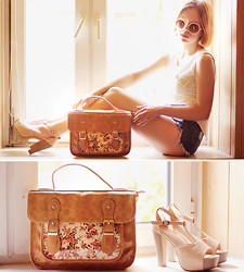 Wioletta Mary Kate - Choies Bag, Chicnova Shoes, Sheinside Shorts, Awwdore Top - Summer Vibes #3
