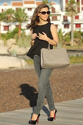 Luba { Well Living Blog } - Sandro Peplum Top, Prada Bag, Christian Louboutin Pumps - Looking forward