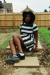 Mwandu S - H&M Hat, Miso Dress, Topshop Socks, Underground Creepers - Setting Fire to our insides for fun