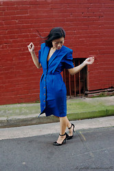 Margaret Ye - Vintage Dress, Asos Heels - Power lady.