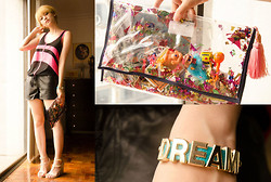 Bea Benedicto - The Ramp Leather Gym Shorts, Rated Pg Toy Bag, Dreambig Shop Dream Bracelet - Dream Sport