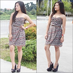 Glaiza Homez - Mango Dress, Forever 21 Wedge - Mango girl