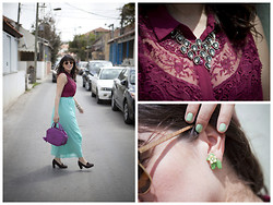 Reut Shechter - Ray Ban Sunglasses, Sammy Dress Earrings, Accessorize Necklace, Geox Shoes, H&M Blouse, Kipling Bag - Day Out