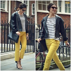 STYLISSIM . - Vintage Jacket, Zara Pants, Choies Sandals - LEMON AND STRIPPES