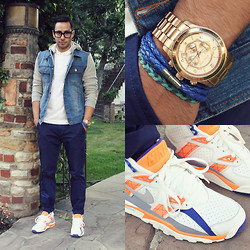 Reinaldo Irizarry - Lacoste Polo, Forever 21 Jacket, Wesc Trousers, Nike Sneakers, Tom Ford Glasses, H&M Bracelet, Michael Kors Watch - SORT OF SPORTY