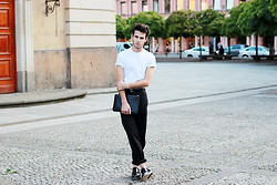 Thibaud G. - Cos T Shirt, Pierre Hardy Leather Pouch - Summer times