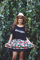Georgina Walker - In Love With Fashion Tee, Topshop Fedora Hat, Urban Outfitters Skirt - #LOVE- raising money for Princes Trust!