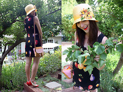 Jamie Shields - Handmade Cloche, Vintage Dress, Bait Heels - Feelin Fruity