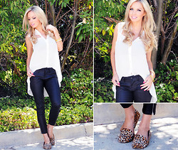 Caitlyn Wilson - Charlotte Russe White Top, Foreign Exchange Jean Leggings, Pink Basis Leopard Flats - Undercover Sassy