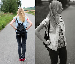 Wiktoria Kkk - Converse Sneakers, Atmosphere Backpack - Aztec