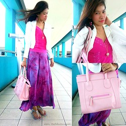 R.A. Basilan - Ai Fashion Blazer, Ifassion Highfashion Maxi Skirt, Looksmart Shop Bag - One Thousand and Ninety Six Days