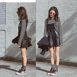 Yan Yan Chan - Zara Turtle Neck, Converse, Nick Campbell Eyewear - Leather bound