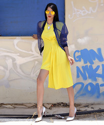 Konstantina Tzagaraki - Romwe Bomber, Romwe Dress, Sunglasses, Choies Heels - Never memorize something that you can look up..