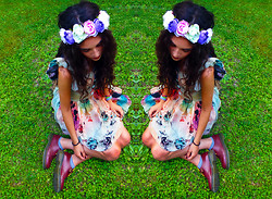 BLISS M. @rudolf_house - H&M Flower Crown, Banggood Dress, Dr. Martens Shoes - Follow me..
