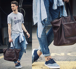 Marcel Floruss - H&M T Shirt, H&M Shirt, H&M Jeans, H&M Shoes, Marc By Jacobs Leather Tote - Project