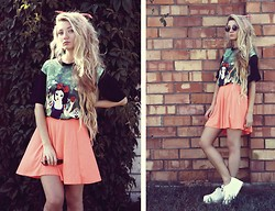 ♡Anita Kurkach♡ - Romwe T Shirt, Topshop Skirt, Bershka Glasses - You like a candy store ! (C)