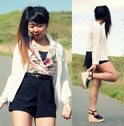 Jennifer V - New Look Combi, Mango Shirt, Zara Shoes - Dance dance dance ! Summer & Asian time ! :D