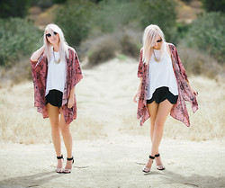 Kelli Murray Larson - Free People Top, Zara Shorts, Jeffrey Campbell Heels - Cloud 9