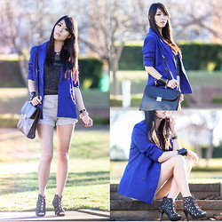 Isabel Z - Chic Wish Blazer, Ianywear Bag, Ianywear Shorts, Spicy Avenue Shoes - Sparkle electric