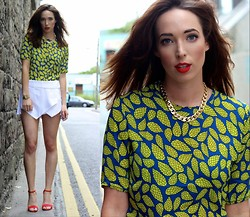 Ciara O doherty - Ebay Top, Ebay Skort, Primark Heels, Primark Chain, Casio Watch - Wide Eyes