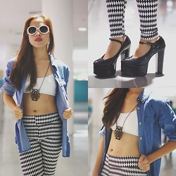Rovie D. - Http://Thebargaindoll.Com, Sm Gtw Denim Polo, Pretty Munchkin Leggings, Crave More Necklace - Crazy Kids