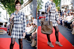 Nicole Wong - Much & Little Dress, Much & Little Bag, Aldo Ankle Boots - Plaid