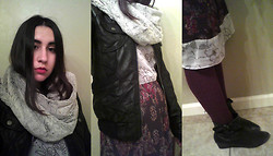 Amanda Parriott - My Style Lab Scarf, Xhilaration Jacket, Thrift Purse, Thrift Dress, Antia Booties - Lovely Layers