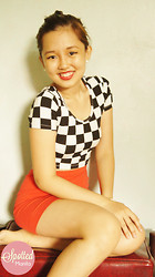 Preziella Tsang - Forever 21 Checkered Midrib Top, H&M Red Bandaged Skirt, Pearl Earrings - Checkmate